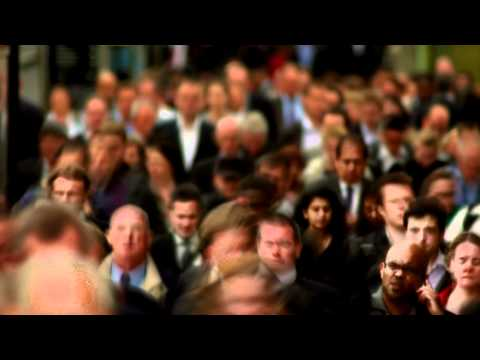 Busy business people walking , crowded streets in London HD & 4K stock footage