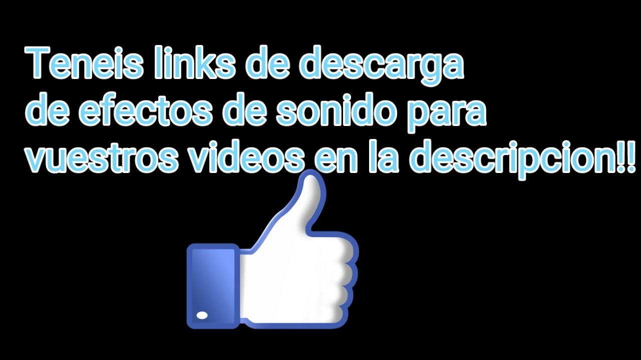 Descargar efectos de sonido para tus videos! Link en descripción