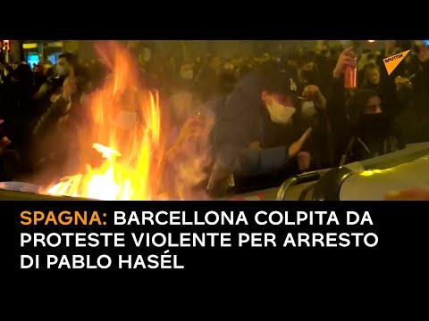 Spagna: Barcellona colpita da proteste violente per arresto di Pablo Hasél