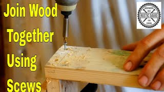 How to join 2 pieces of wood in the corner with a screw