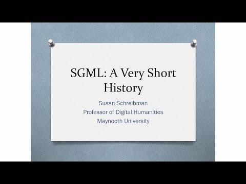 A Short History of SGML