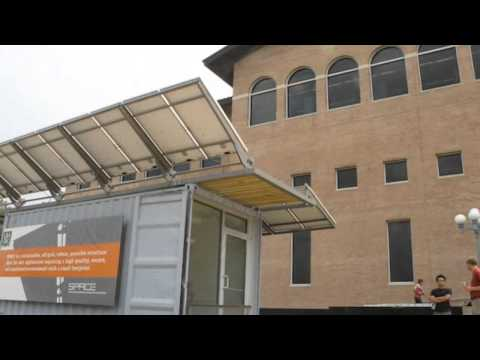 Solar-Powered SPACE Shipping Container Office Produces Twice as Much Energy as it Consumes