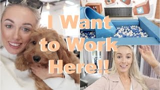 The Most Incredible Office EVER! (With Puppies and a SLIDE!)   |   Fashion Mumblr Every Day May