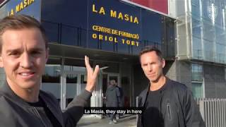 Stu Holden and Steve Nash Visit Barcelona