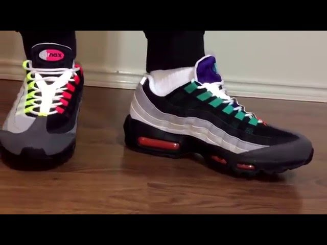 a15e8a7b6d0 Air max 95 Greedy unboxing and on feet review - YouTube