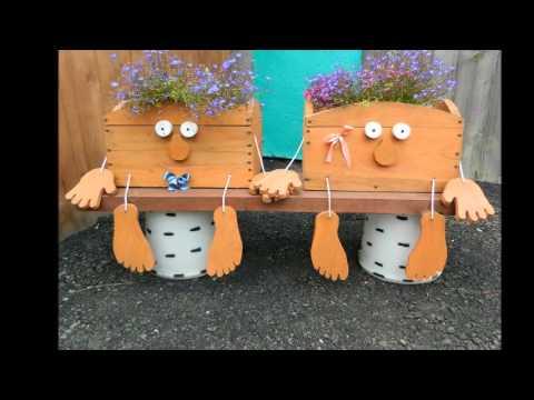 Веселые поделки для дачи и сада своими руками