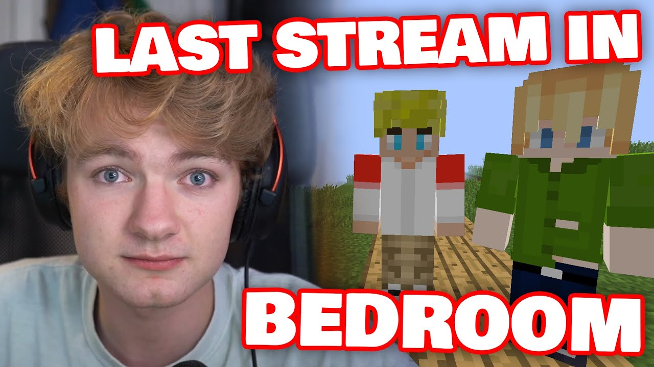 Tommy's LAST Stream Of DREAM SMP In His BEDROOM!
