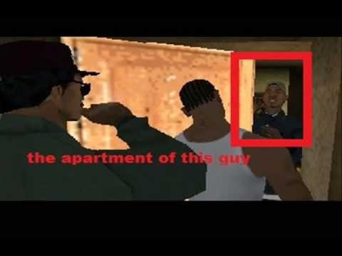 san andreas: how to get in B dup's appartement and B dup's crack palace