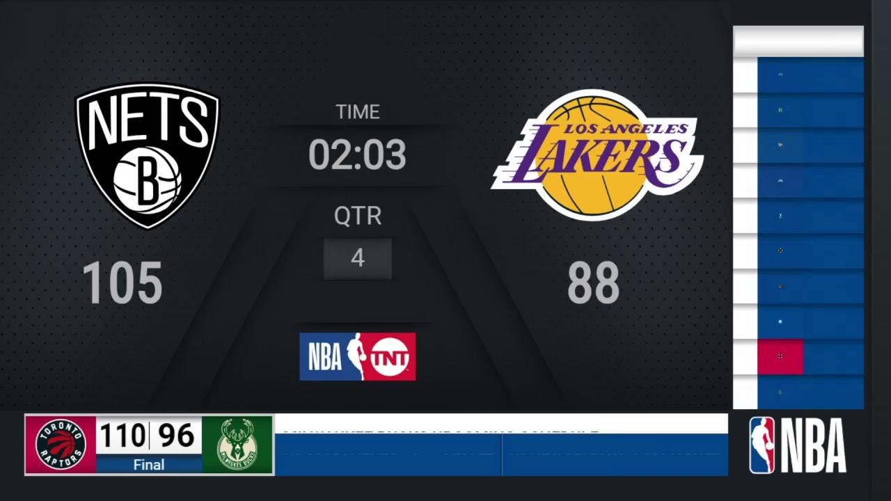 Nets @ Lakers | NBA on TNT Live Scoreboard