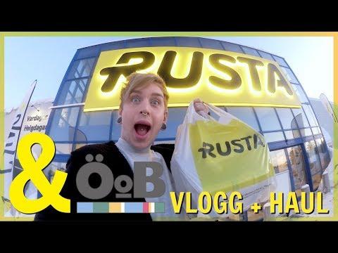 RUSTA & ÖoB vlogg + haul