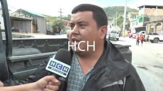 Pérdidas materiales dejó una colisión en el barrio Santa Teresa, Santa Rosa de Copán