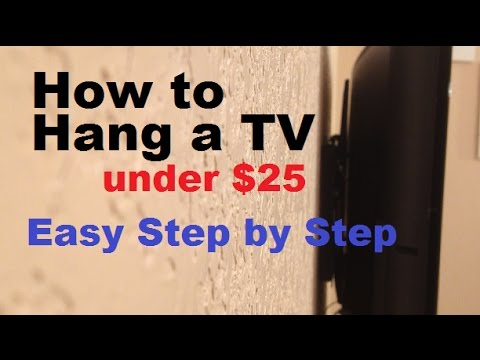 How to hang a tv on the wall using a wall mount youtube for Best tv to hang on wall