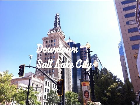 Downtown Salt Lake City, Utah.