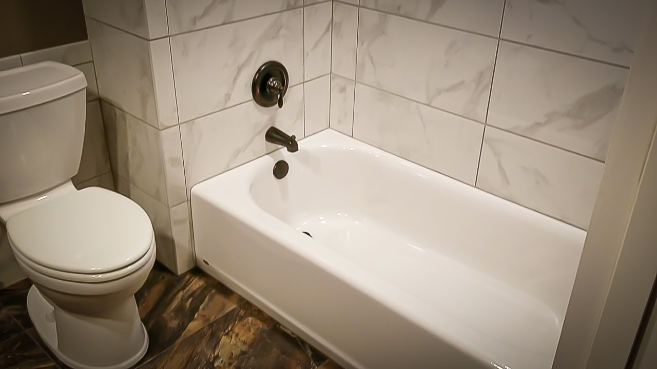 Tile Setting How To Set Tile Around Your Tub Youtube