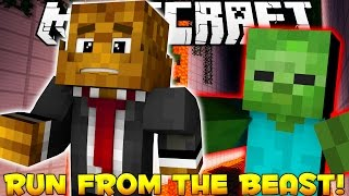 """Minecraft RUN FROM THE BEAST """"CAN"""
