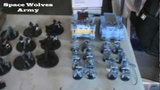 Warhammer 40k 6th ed Battle Report: Space Wolves(IG) vs Dark Eldar 1/3