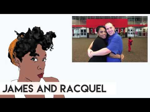 Online dating - Interracial Couple