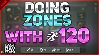 DOING ZONES WITH 120 RUNNING SPEED! BLUEPRINT FARM! - Last Day on Earth: Survival LIVESTREAM