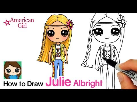How To Draw Julie Easy | American Girl Doll