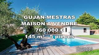 Gambar cover GUJAN-MESTRAS - MAISON A VENDRE - 760 000 € - 145 m² - 5 pièces