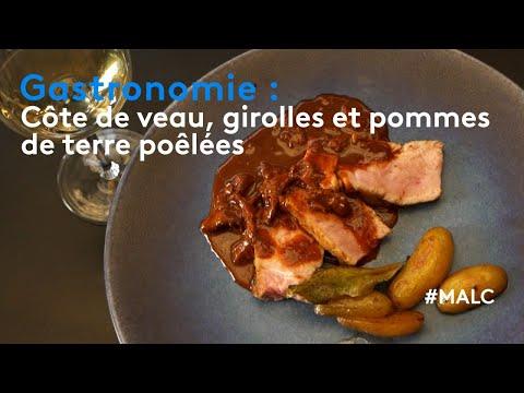 gastronomie-:-côte-de-veau,-girolles-et-pommes-de-terre-poêlées