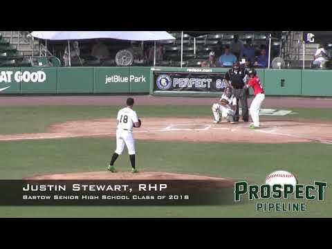 Justin Stewart Prospect Video, RHP, Bartow Senior High School Class of 2018, CF