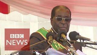 Zimbabwe's  President Robert Mugabe warns of economic struggle - BBC News