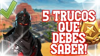 LOS 5 TRUCOS de FORTNITE que DEBES SABER ✅ Trucos Para Mejorar en Fortnite PS4 y PC