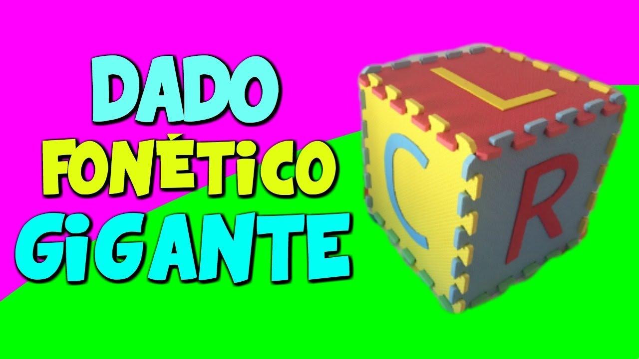 Dado Fonetico Gigante Juego Educativo Casero Para Ninos Youtube