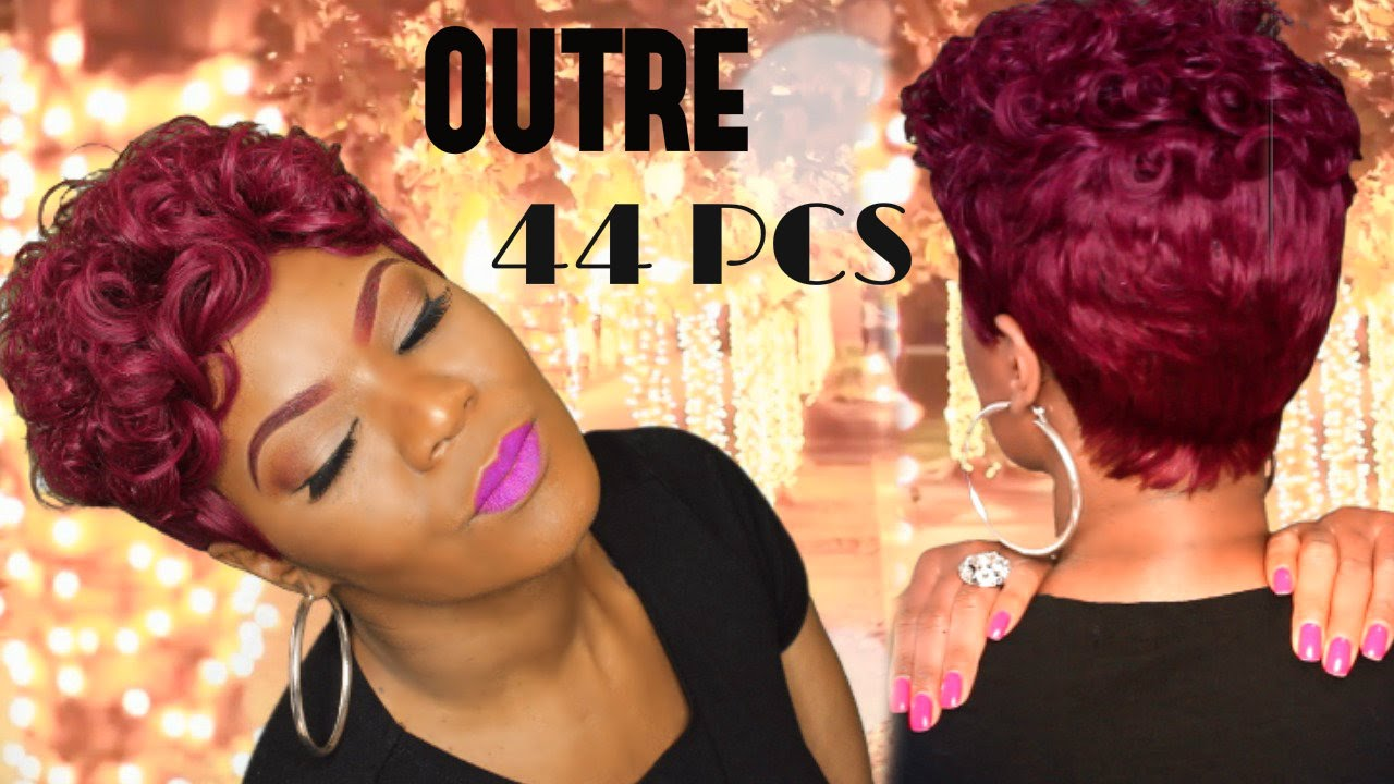 quick weave pixie start to finish | outre velvet roll-up 44 pcs