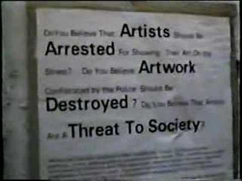 SoHo Alliance leader on street artists 1995