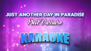Phil Vassar - Just Another Day In Paradise (Karaoke version with Lyrics)