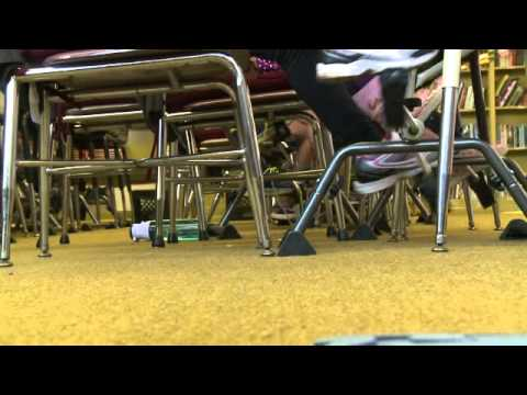 Students Use Pedal Desks At School Youtube