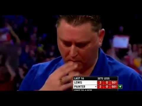 Kevin Painter swearing at Adrian Lewis? - 2013 PDC World Championship