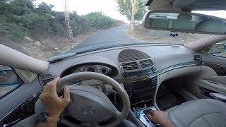 mercedes benz e320 w211 windy road pov driving 60fps