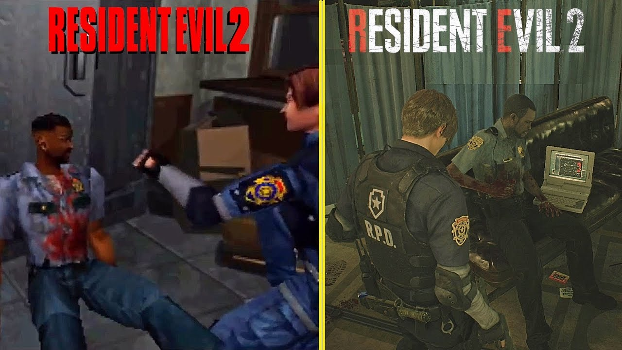 Resident Evil 2 Remake Vs Original Side By Side Graphics