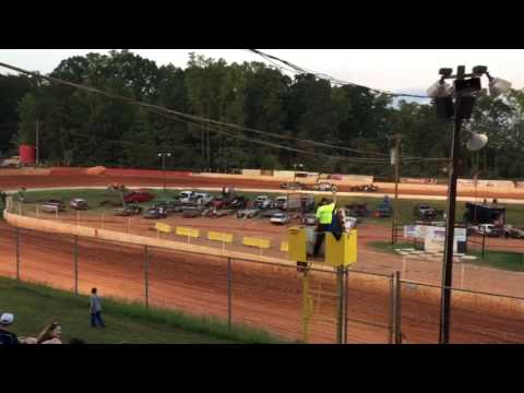 "Carl ""MailMan"" Maree #2 Renegade Car-September 10, 2016 - East Lincoln Speedway - Heat Race WIN!"