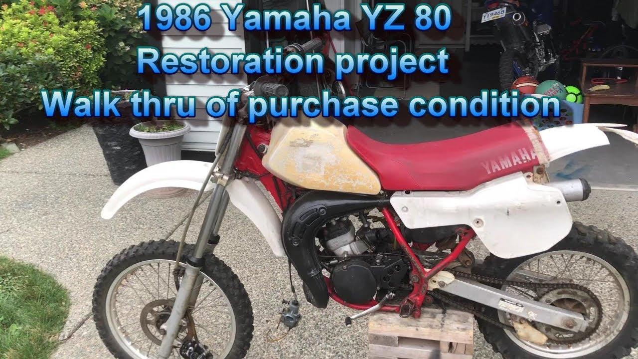 1986 Yamaha Yz 80 Restoration Project Part 1