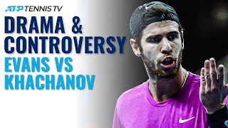 Dramatic Moments & Controversy: Dan Evans vs Karen Khachanov | Antwerp 2020 Highlights