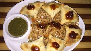 Baked chinese samosa - non fried recipe - breakfast recipe/tea time snack