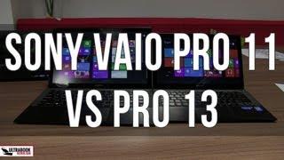 Sony Vaio Pro 13 vs Sony Vaio Pro 11 comparison