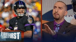 Nick Wright calls Broncos trade for Joe Flacco a 'terrible move' | NFL | FIRST THINGS FIRST