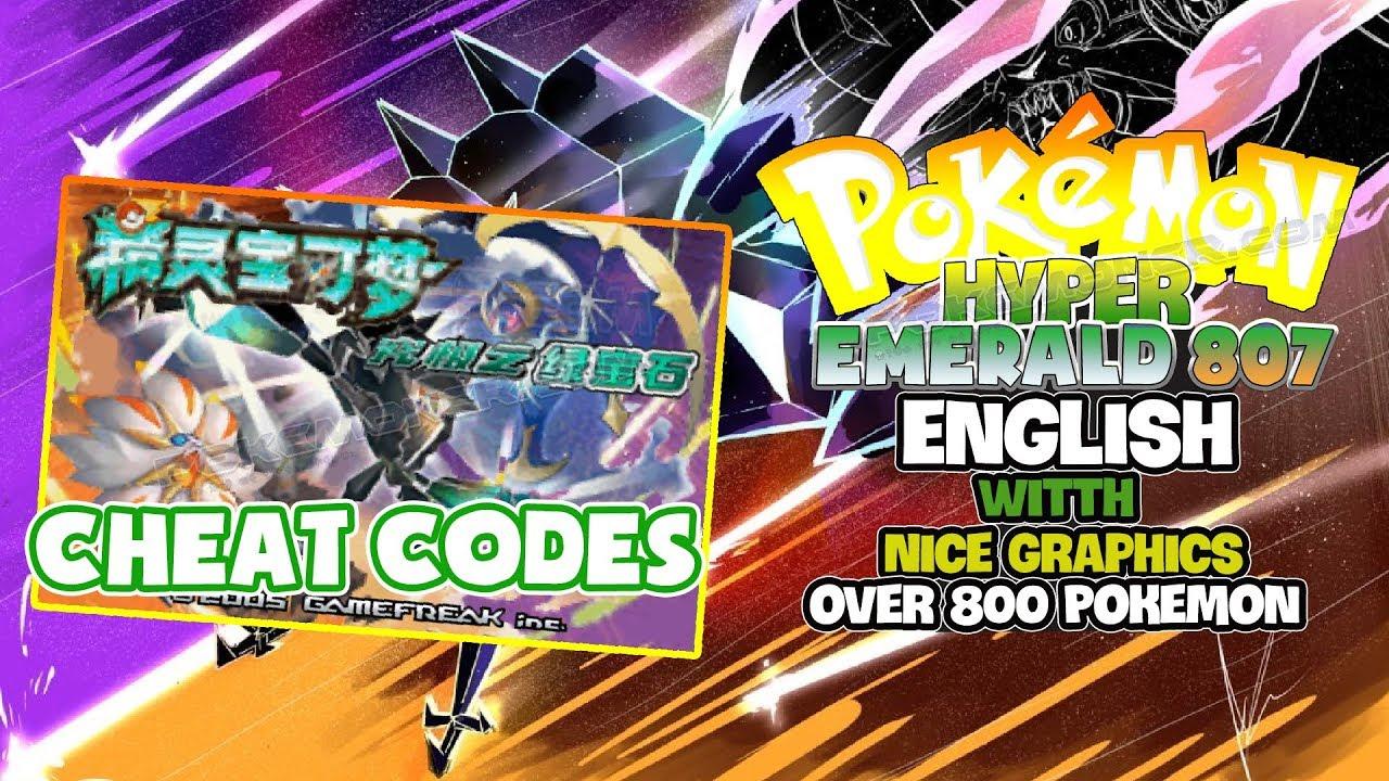 Pokemon hyper emerald 807 english cheat code for pc mobile +.