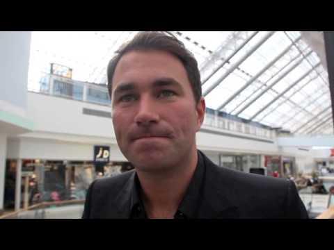 EDDIE HEARN POST WEIGH-IN INTERVIEW FOR BURNS v BELTRAN IN GLASGOW - 'BRAVEHEART'
