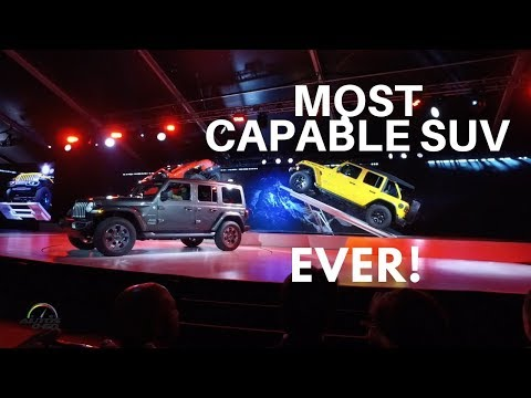 2018 Jeep Wrangler global debut at the Los Angeles Auto Show
