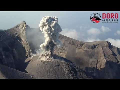 Stunning Drone Video Of Sangeang Api Volcano In Indonesia