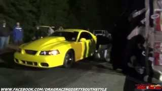 Street Outlaws Boosted GT vs Shane Lester & his Turbo Mustang at Street Racin Haven