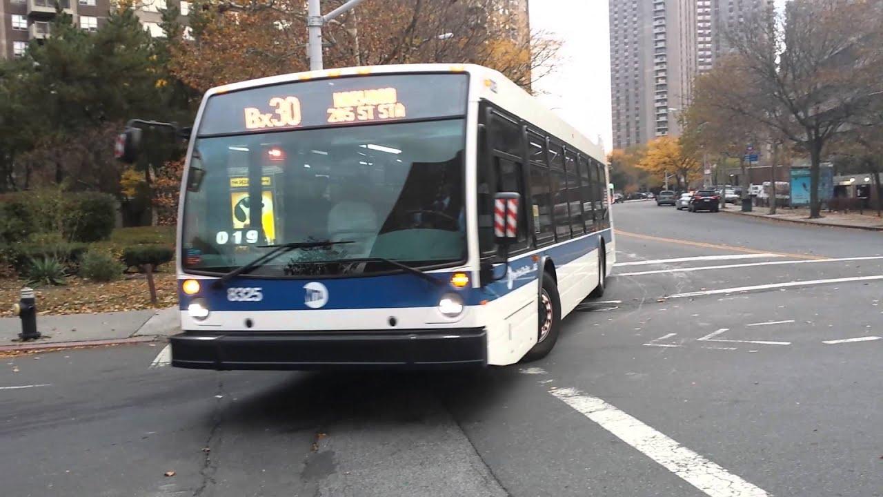 mta new york city bus: 2015 novabus lfs [#8325, #8321] bx30 buses