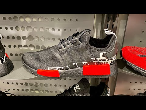 NMD_R1 'Wordmark Heel Stripe - Black Solar Red'