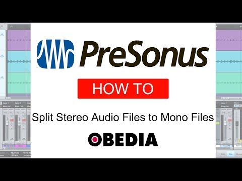 Split Stereo Audio Files to Mono Audio Files in Studio One